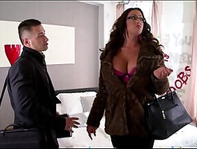 Busty big ass nympho emma butt gets her big tits getting face fucked hard by two studs