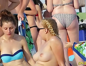 HOT Bikini Amateur Teens Spy Beach Video