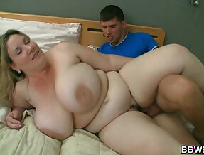 BBW gets her pussy pounded by horny burglar