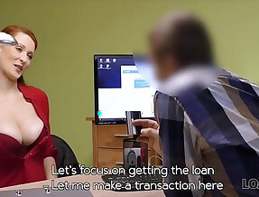 Hypnotizing boobs for credit manager