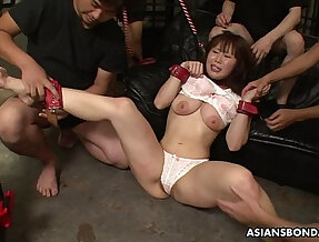 Groped, poked and toy fucked by the boys