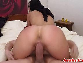 Arab babe fucks on camera for cash