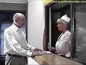 busty nurse ball gagged and breast fondled