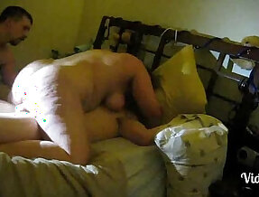 Cuckold wife around with her lover making love.