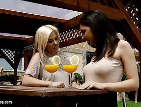Mimosa munching by sapphic erotica sensual lesbian with henessy elma