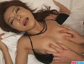 Charming Japanese milf fucked hard from behind