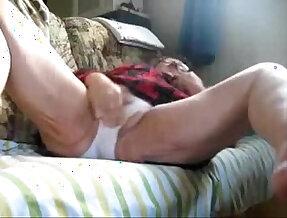 My granny loves to masturbate. Hidden cam