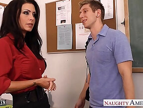 Busty teacher Jessica Jaymes fuck in class
