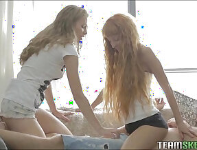 Two Teen Hotties Got Nothing To Do But Fuck The Day Away