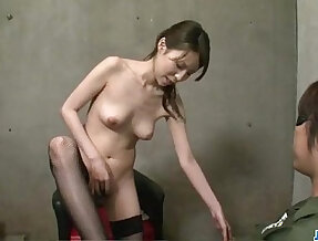 Rino Asuka plays with big toys deep down her hairy cherry