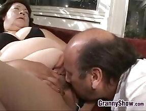 Large Grandma Pleasing Cock Fucking