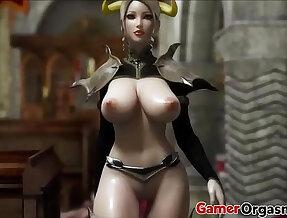 Hardcore 3D Big Tits Beauty Queen