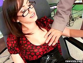 Jennifer White hot secretary fucks with her boss