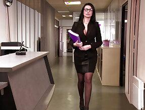 Hot teacher ania kinski in wild anal threesome
