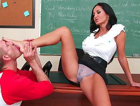 I fuck my busty teacher on her desk