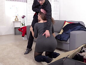 Sofia Curly spanked, pussy licked & banged